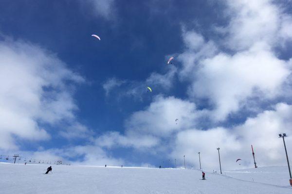Paragliders over Ylläs